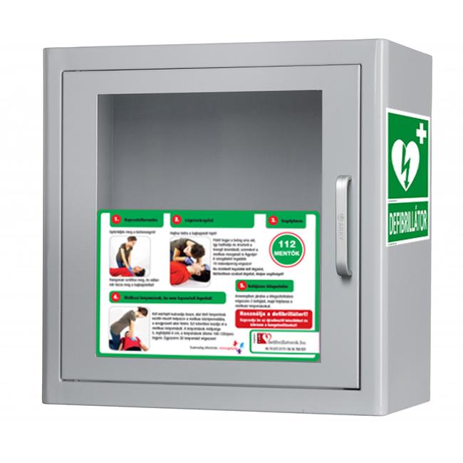 Beltéri defibrillátor szekrény