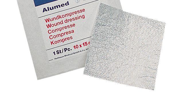 Alumínium bevonatú sebfedő, 10x10 cm, 5 db